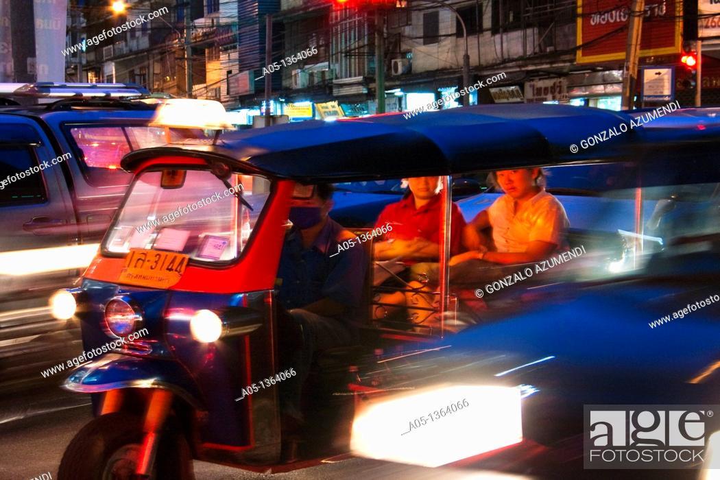 Stock Photo: Traffic in Bangkok, Thailand, Southeast Asia.