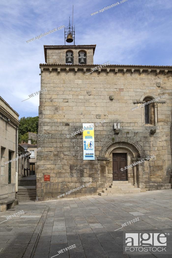 Stock Photo: Santiago church, Allariz, Ourense Province, Galicia, Spain.