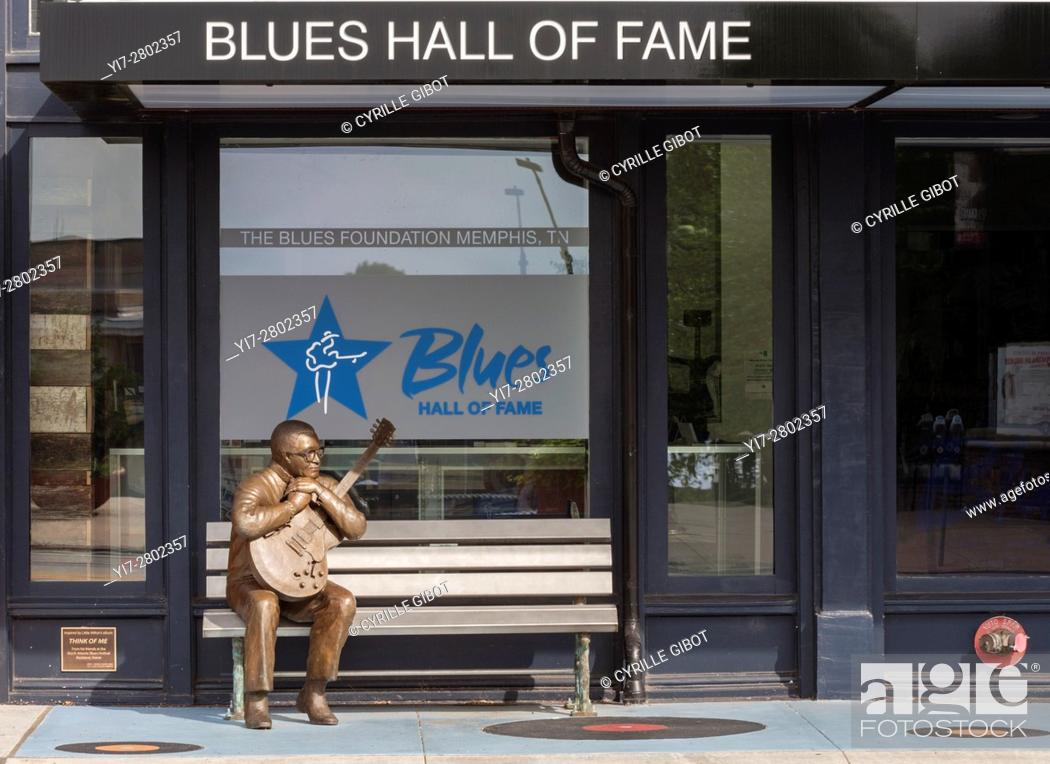 Stock Photo: Blues Hall of Fame, downtown Memphis, Tennessee, USA.