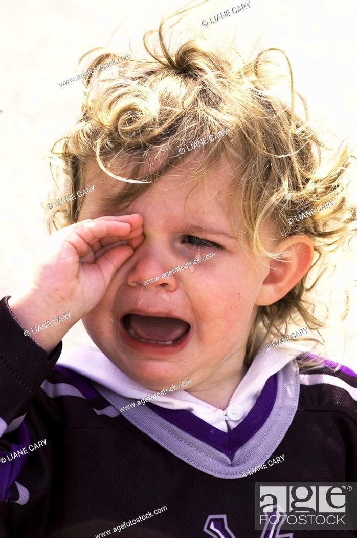 Stock Photo: Crying toddler.
