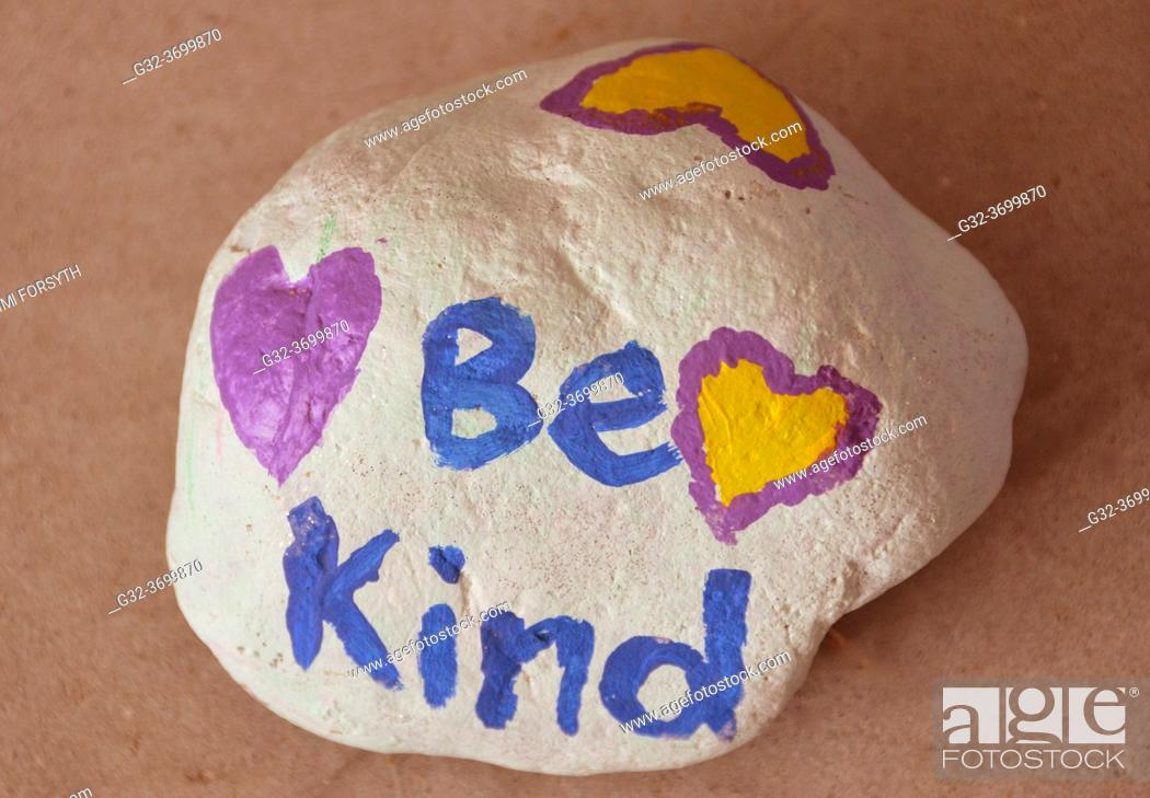 Stock Photo: rock painted by child, New Mexico.