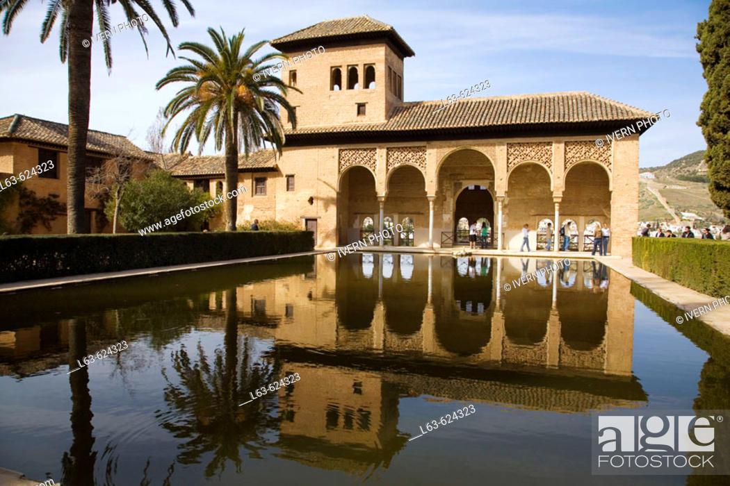 Stock Photo: Torre de las Damas. Alhambra. Granada. Andalusia. Spain.
