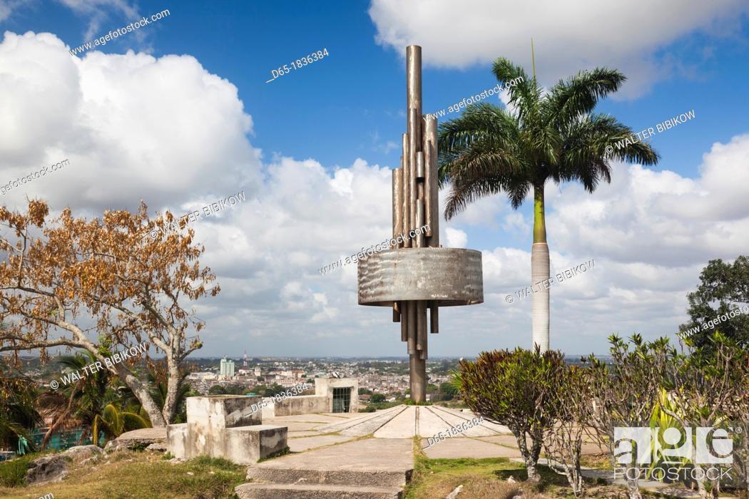 Stock Photo: Cuba, Santa Clara Province, Santa Clara, monument atop the Lomo de Caparo.