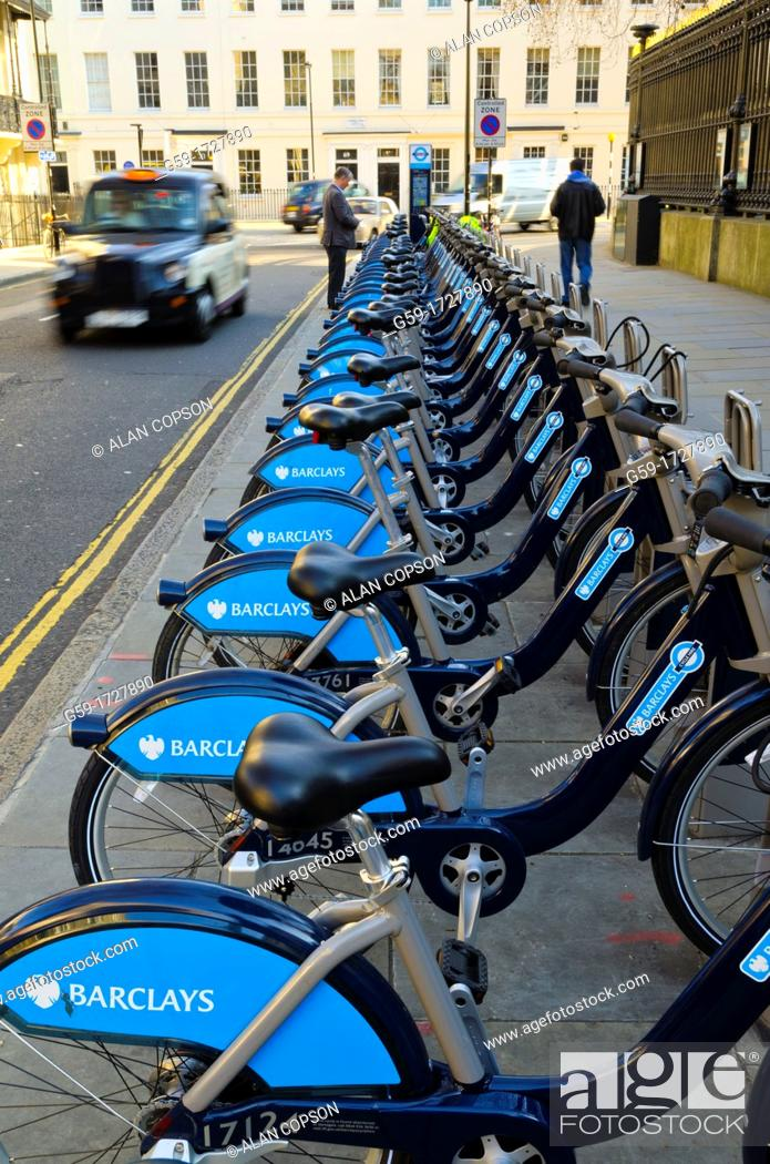 Imagen: UK, England, London, Cycles for hire.