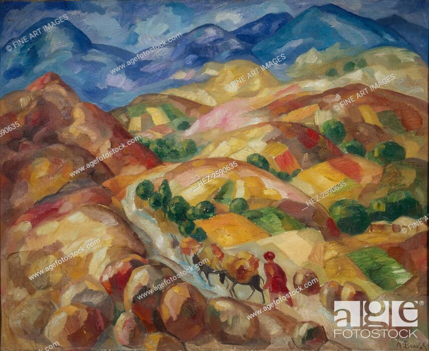 Stock Photo: The Mountain Road, 1930-1931. Found in the collection of the State Museum of History, Architecture and Art New Jerusalem, Istra.