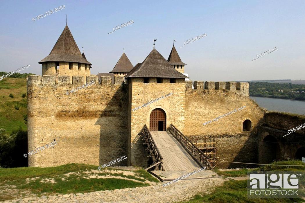 Stock Photo: Khotyn, Chocim, Fortress, citadel, 13th-15th-18th century, Chernivtsi Oblast province, Western Ukraine.