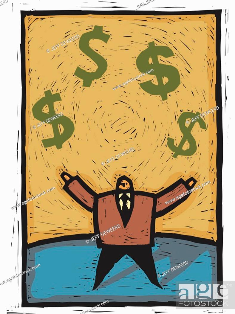 Stock Photo: juggling money.