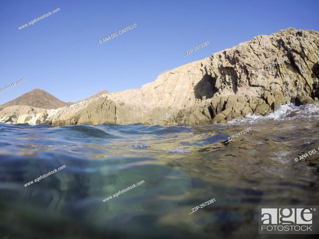 Stock Photo: Underwater image in Cabo de Gata nature reserve in Almeria, Andalusia, Spain.
