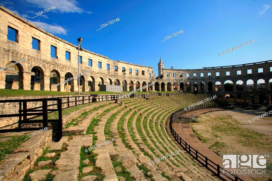 Stock Photo: Arena Roman amphitheater, Pula. Istrian peninsula, Croatia.