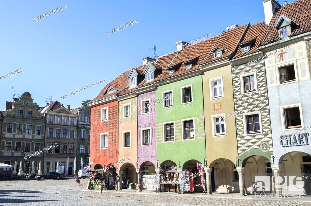 Imagen: Houses, Old Market Square, Poznan, Poland.