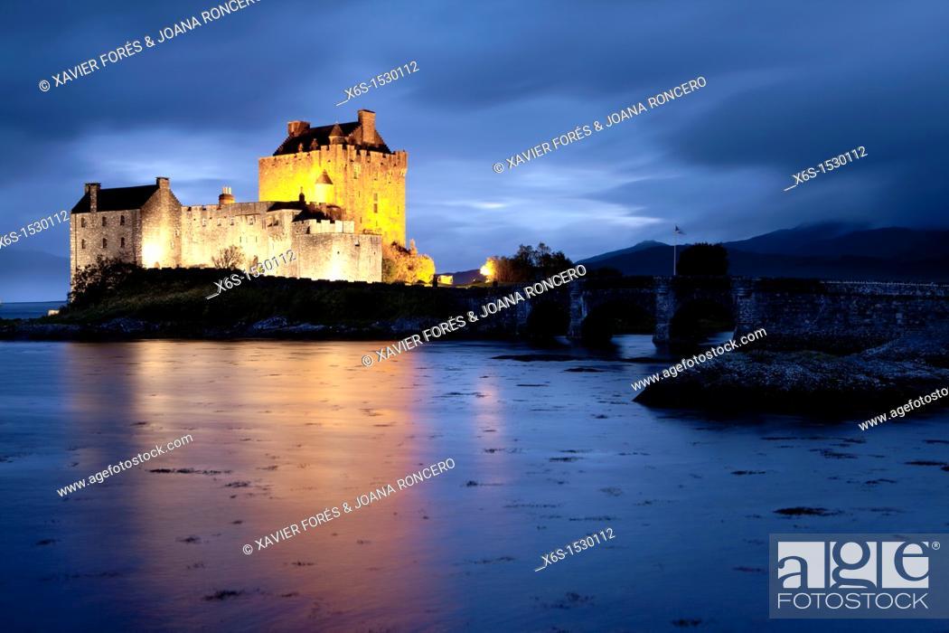 Stock Photo: Eilean Donan Castle, Highlands, Scotland.