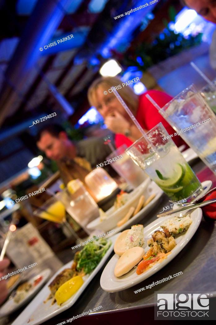 Stock Photo Typical Seafood Dinner At Conch Republic Restaurant Key West Florida