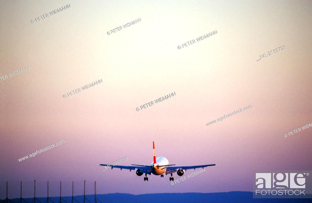 Stock Photo: airplane in the air.