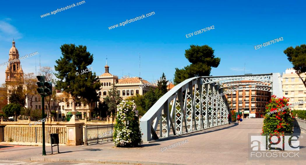 Stock Photo: Bridge over Segura called Puente Nuevo. Murcia, Spain.