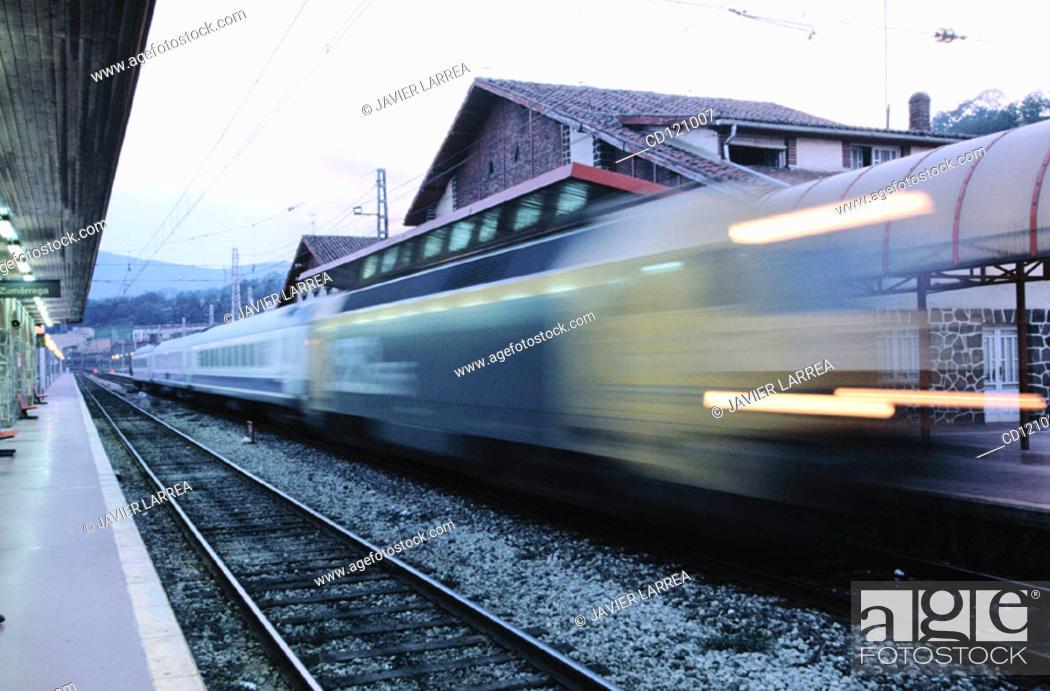 Stock Photo: Train station. Zumarraga. Spain.