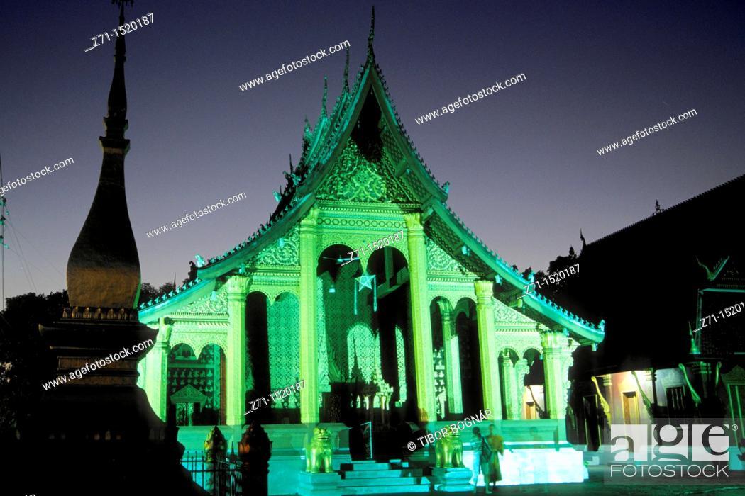 Stock Photo: Wat Sop buddhist temple, Luang Prabang, Laos.