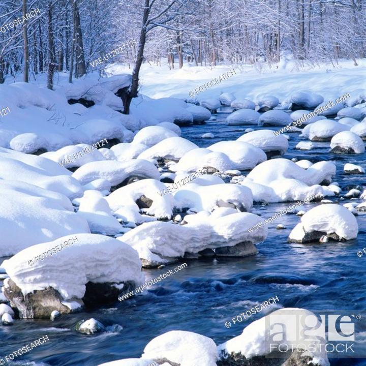 Stock Photo: Winter River.