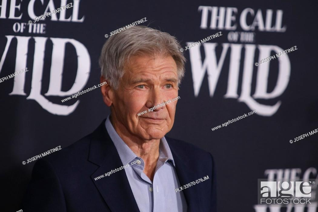 """Stock Photo: Harrison Ford at """"""""The Call Of The Wild"""""""" World Premiere held at El Capitan Theatre in Los Angeles, CA, February 13, 2020."""