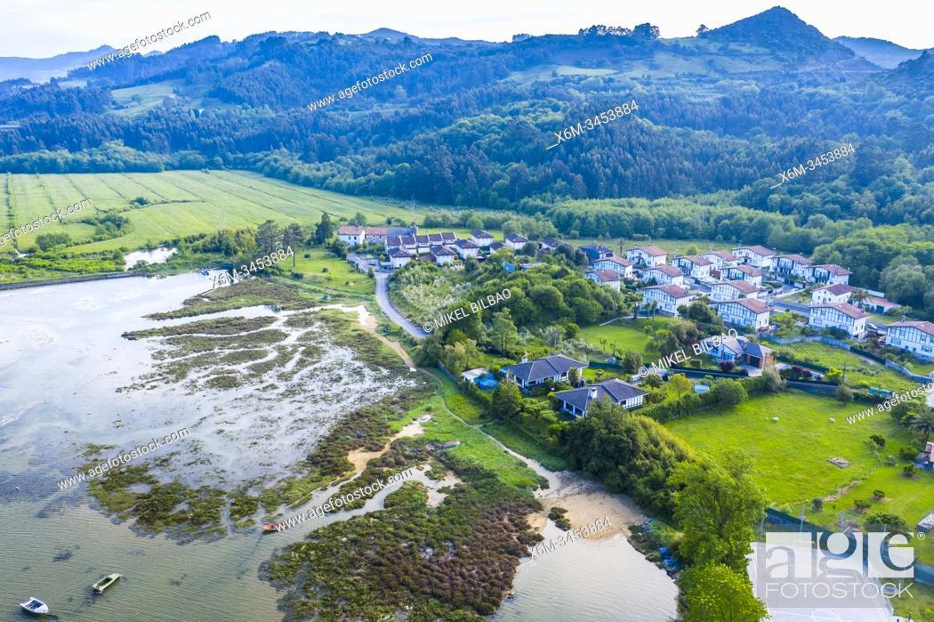 Stock Photo: Coastal aerial view. Oriñon, Castro Urdiales, Cantabria.