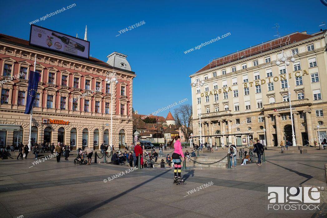 Photo de stock: Ban Jelacic Square, Zagreb, Croatia.