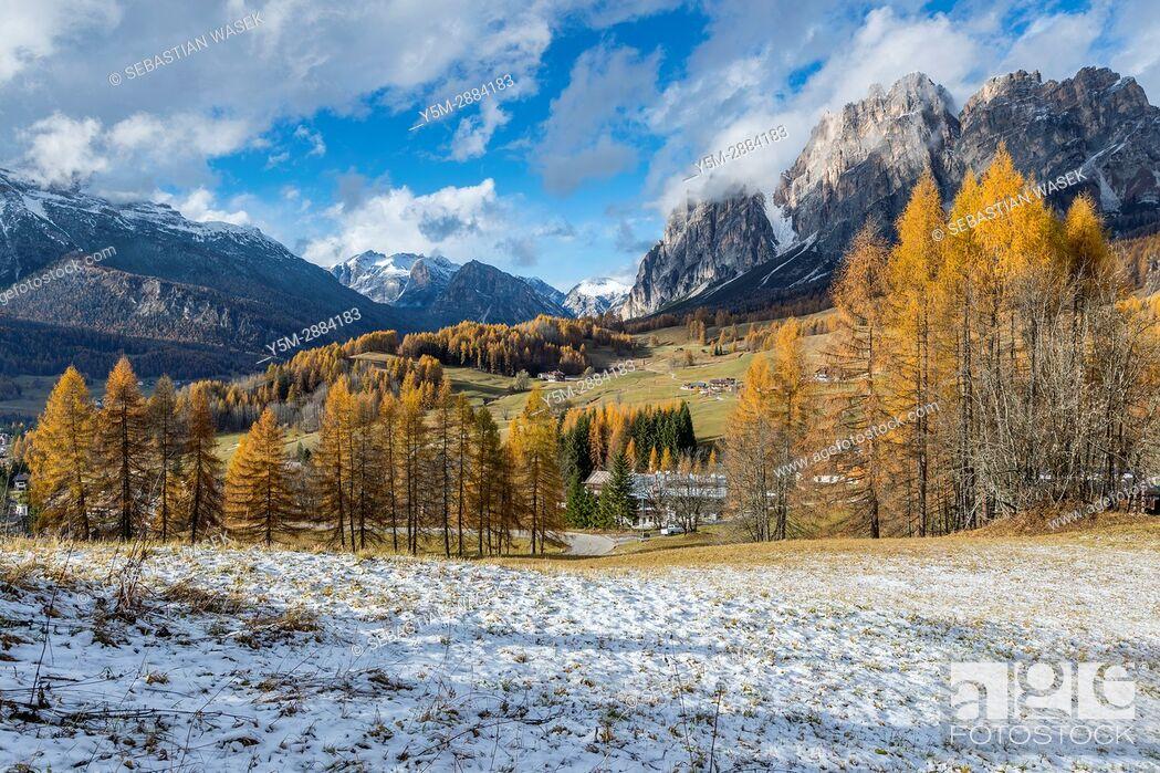 Stock Photo: Passo Tre Croci, Cortina D'Ampezzo, Province of Belluno, region of Veneto, Italy, Europe.