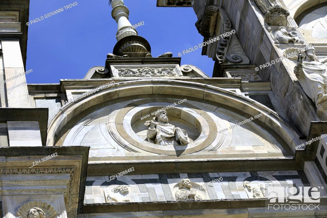 Stock Photo: Certosa di Pavia details of facade, Pavia, Lombardy, Italy.