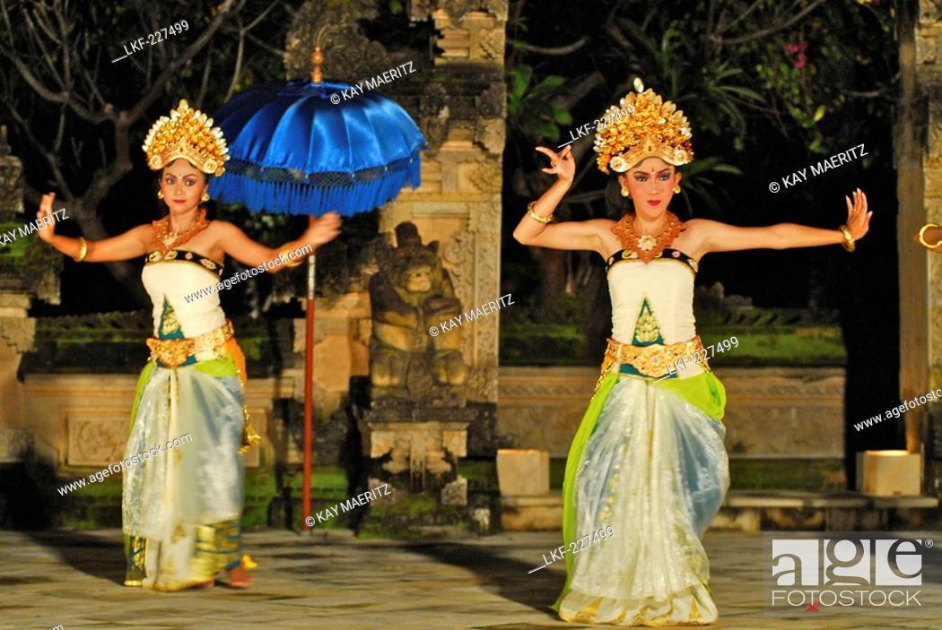 Dancers Dancing Legong Dance At Matahari Hotel Pemuteran North