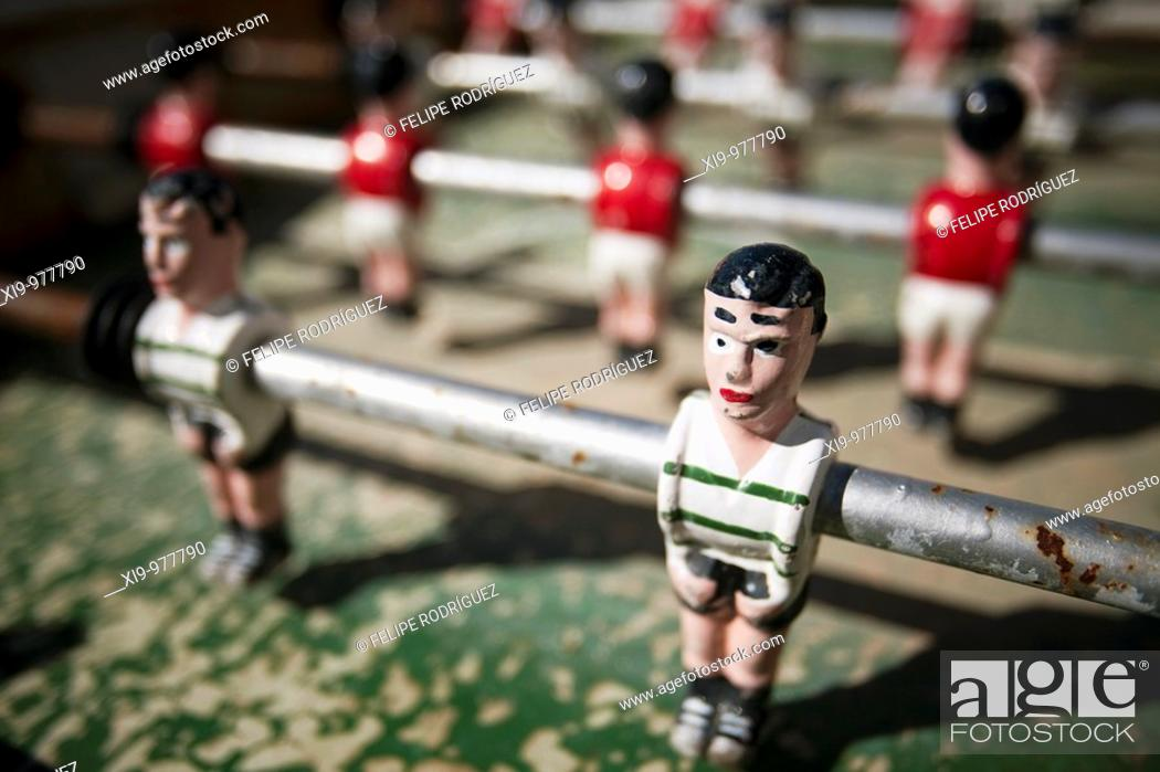 Stock Photo: Table football, Faro, Algarve, Portugal.