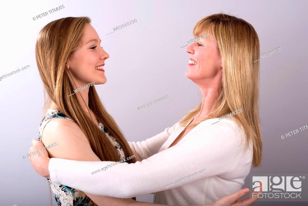 Stock Photo: Teenage girl with her mother.