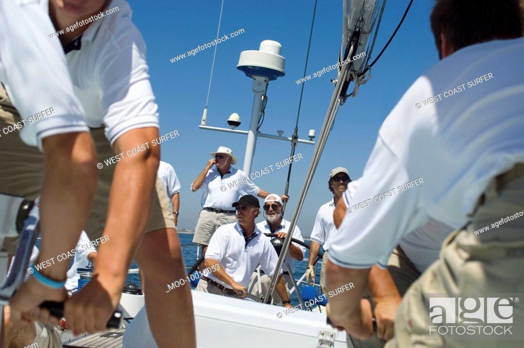 Stock Photo: Crew on Yacht.