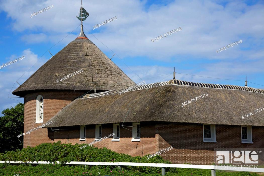 Stock Photo: Catholic church 'St. Nikolaus' on the East Frisian island of Baltrum.