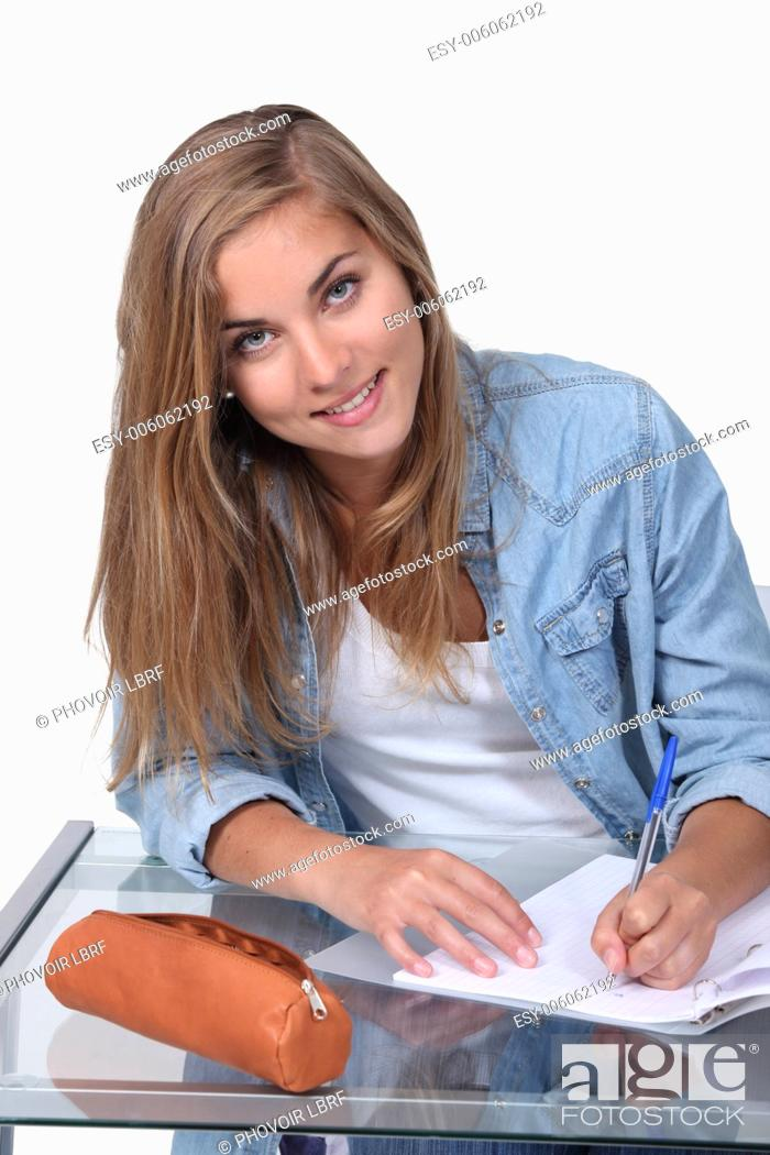 Stock Photo: portrait of a teenager.