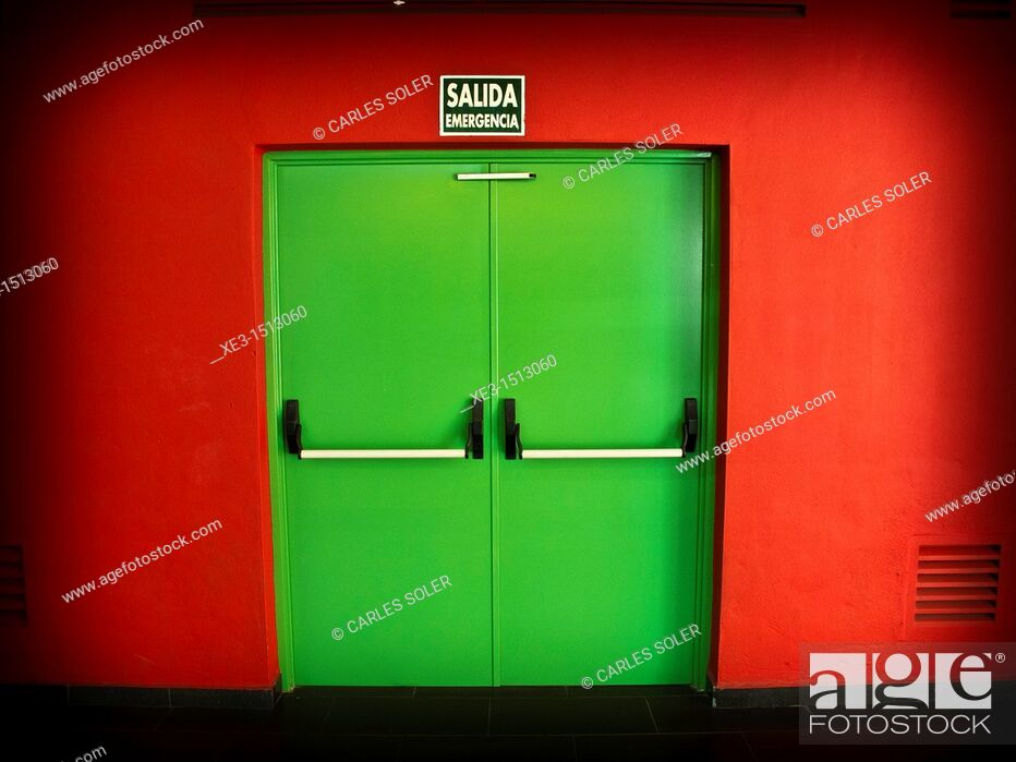 Stock Photo: Exit door.