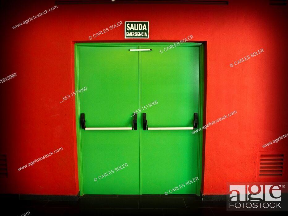 Stock Photo: Exit door.
