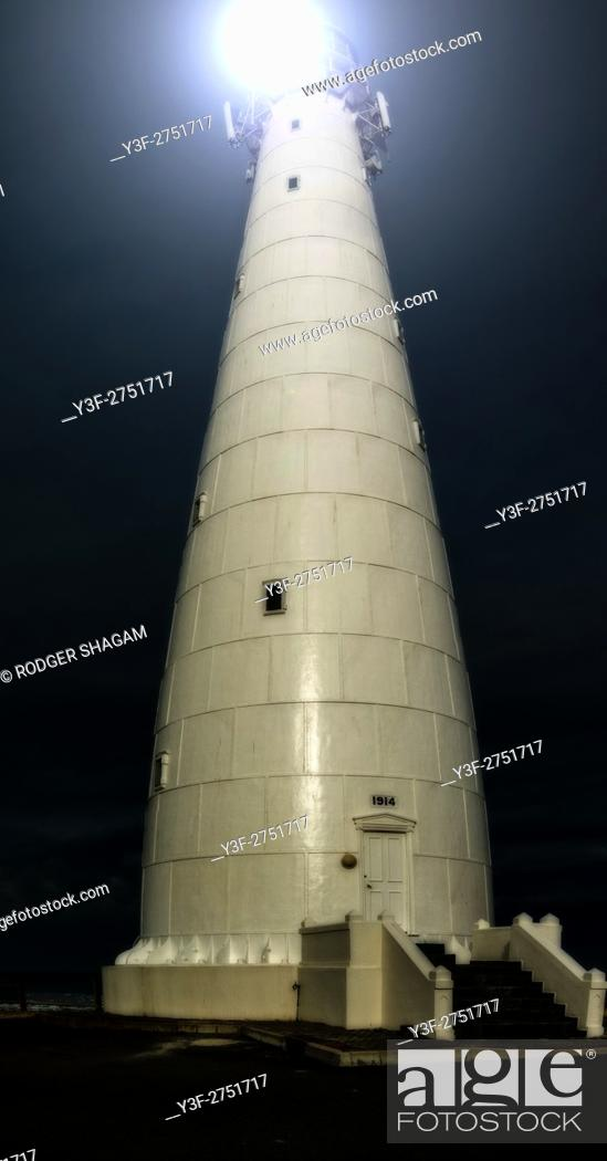 Stock Photo: Slangkop (Snake Head) lighthouse is built of steel. At Kommetjie, near Cape Town, South Africa.
