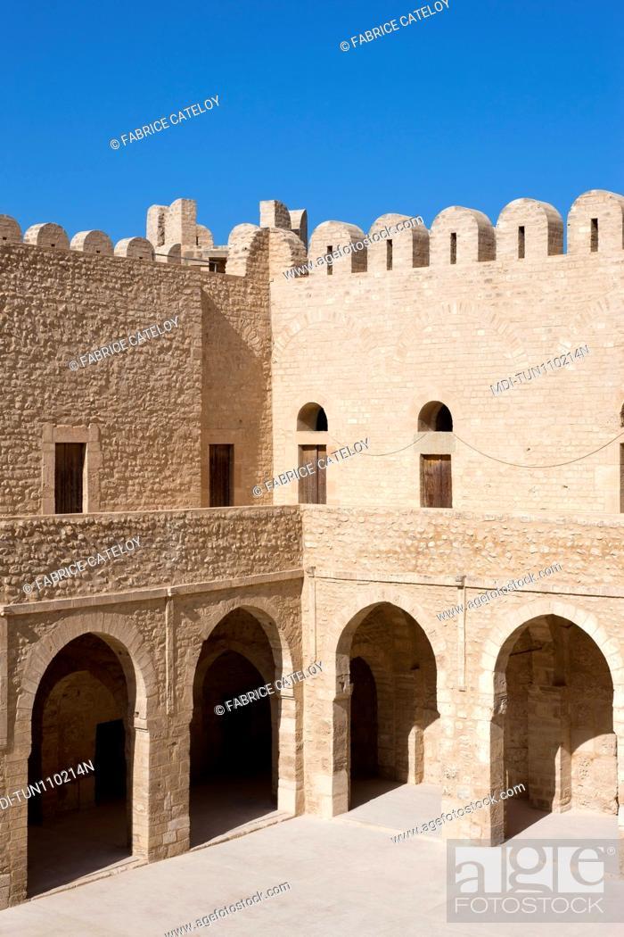 Stock Photo: Tunisia - Sousse - Courtyard of the Ribat castle.