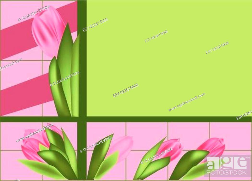 Stock Vector: tulips.