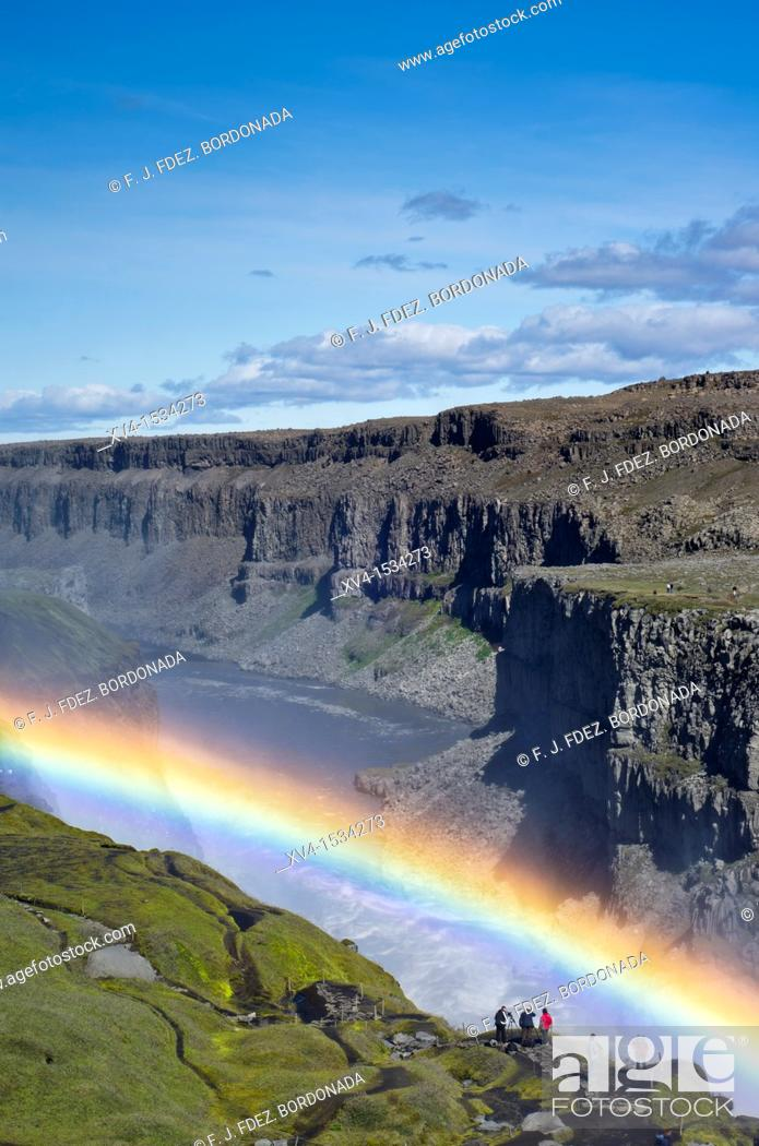 Stock Photo: Dettifoss waterfall  Asbyrgi National Park  Iceland.