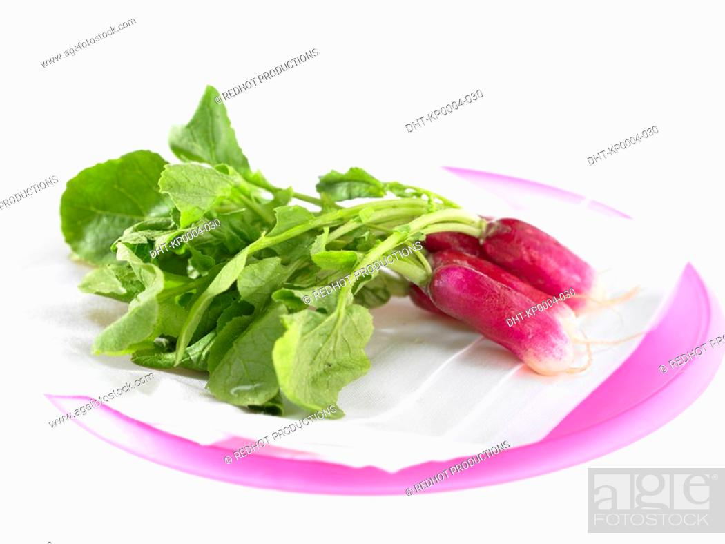 Stock Photo: Red Radishes on a plate.