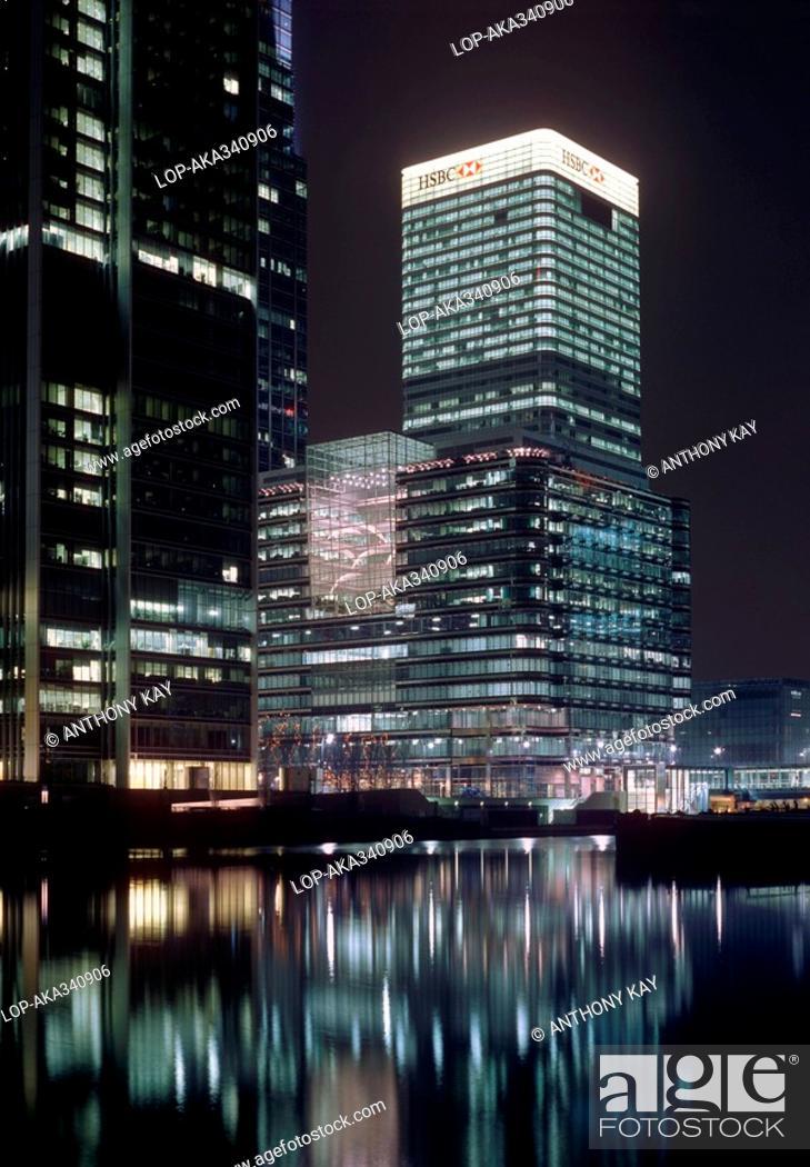 England, London, Canary Wharf, The HSBC headquarters, a landmark 44