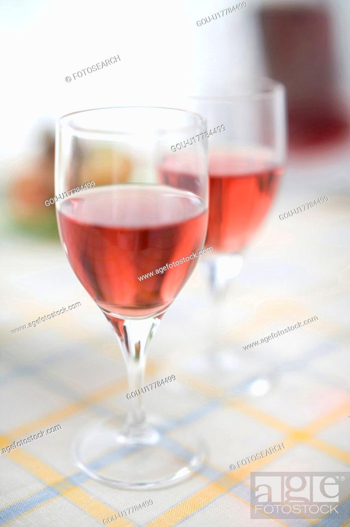 Stock Photo: Two glasses of red wine.