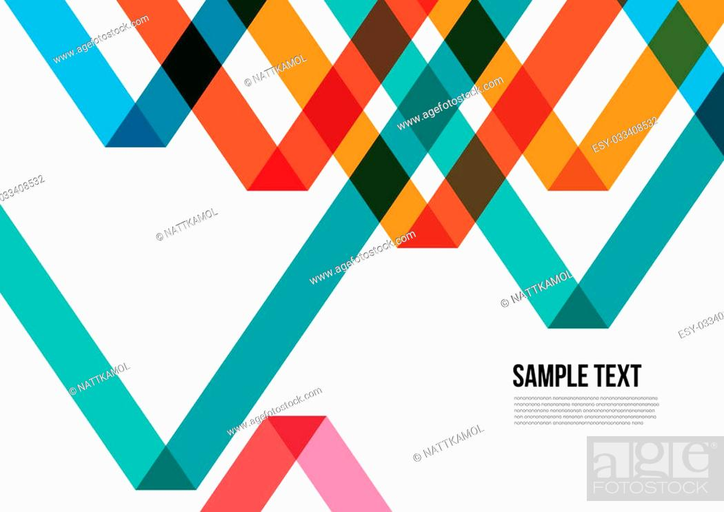 Abstract Colorful Triangle Pattern Background Cover Layout Magazine Brochure Poster Stock Vector Vector And Low Budget Royalty Free Image Pic Esy 033408532 Agefotostock