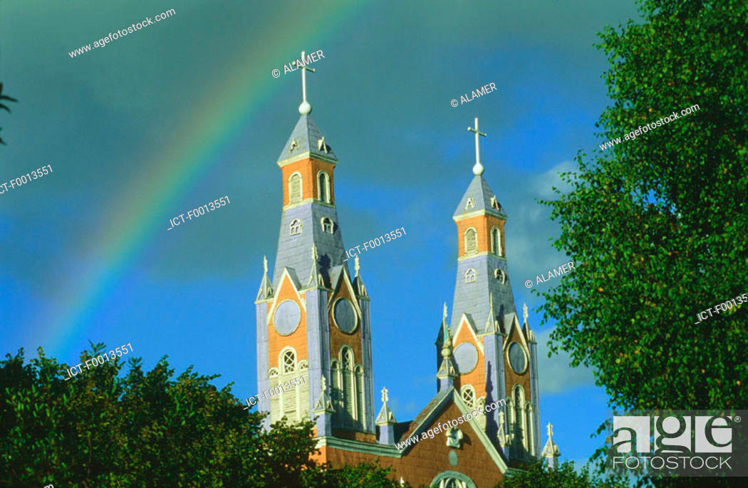 Stock Photo: Chile, Chiloe, cathedral.