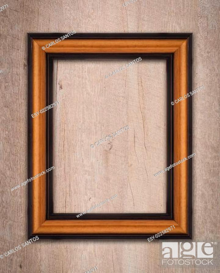 Stock Photo: Vintage wooden frame.
