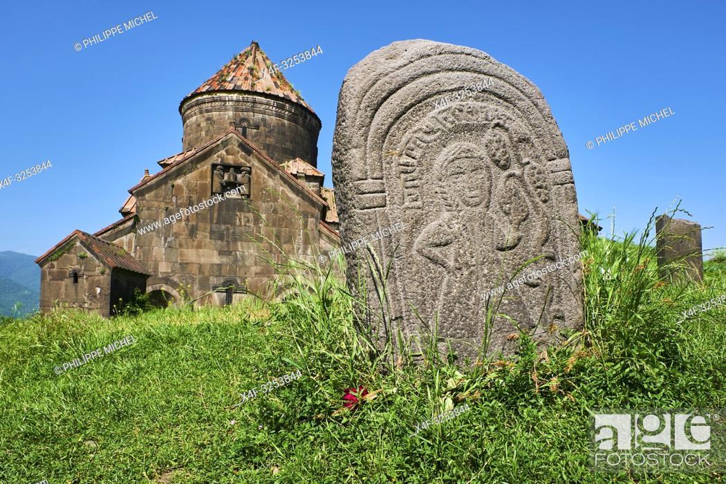 Stock Photo: Armenie, province de Lori, monastere d'Haghpat, classé au patrimoine mondial de l'Unesco / Armenia, Mori province, Haghpat monastery, Unesco World Heritage.