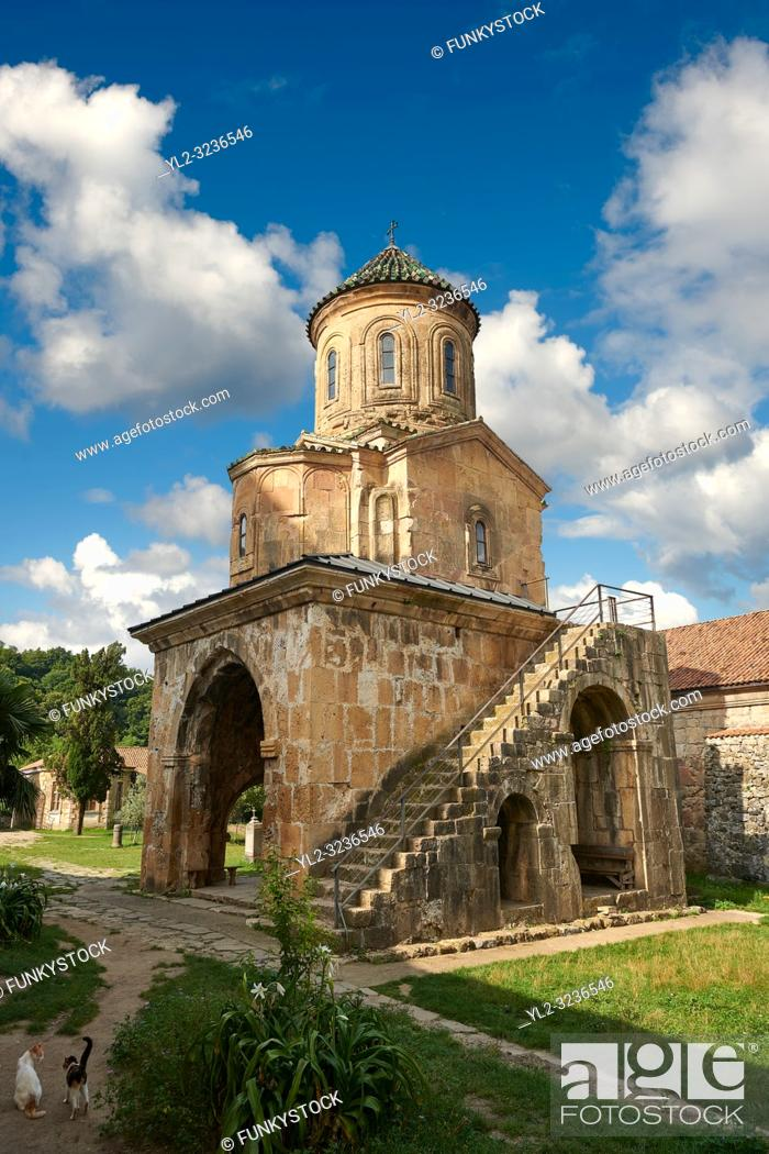 Stock Photo: Pictures & images of Gelati Georgian Orthodox church of St. Nicholas, 13th century. The medieval Gelati monastic complex near Kutaisi in the Imereti region of.