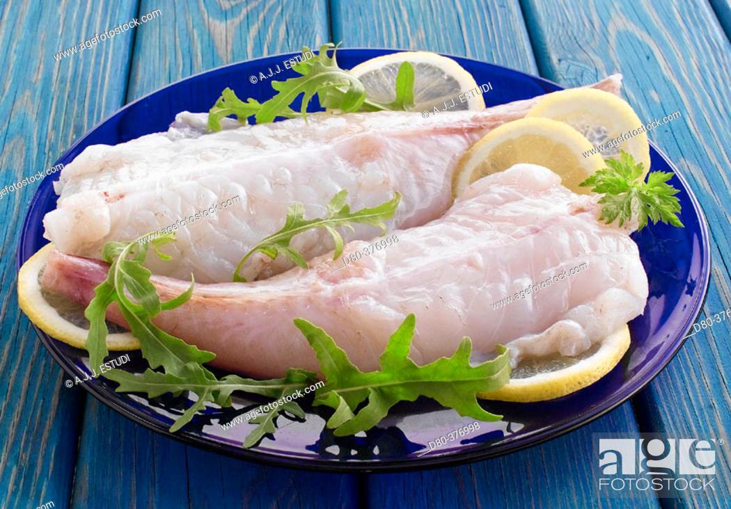 Stock Photo: Monkfish tails.