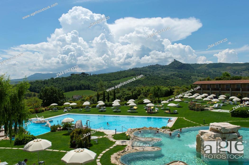 Thermal pool at adler thermae spa relax resort in bagno vignoni