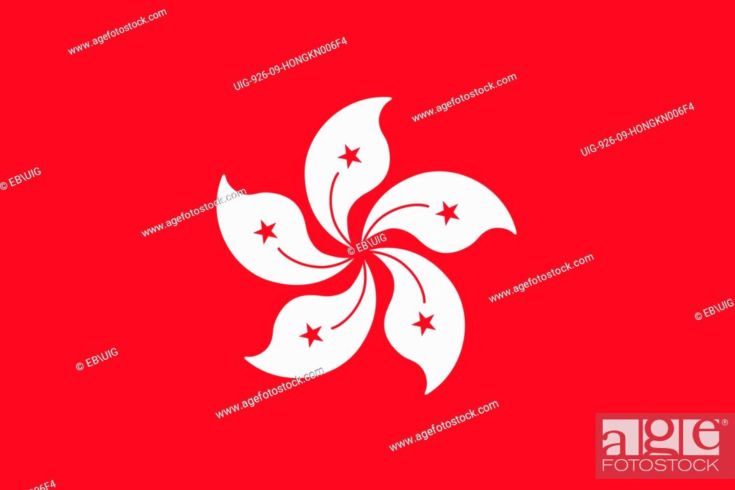 Stock Photo: Flag of Hong Kong, a special administrative region of China.