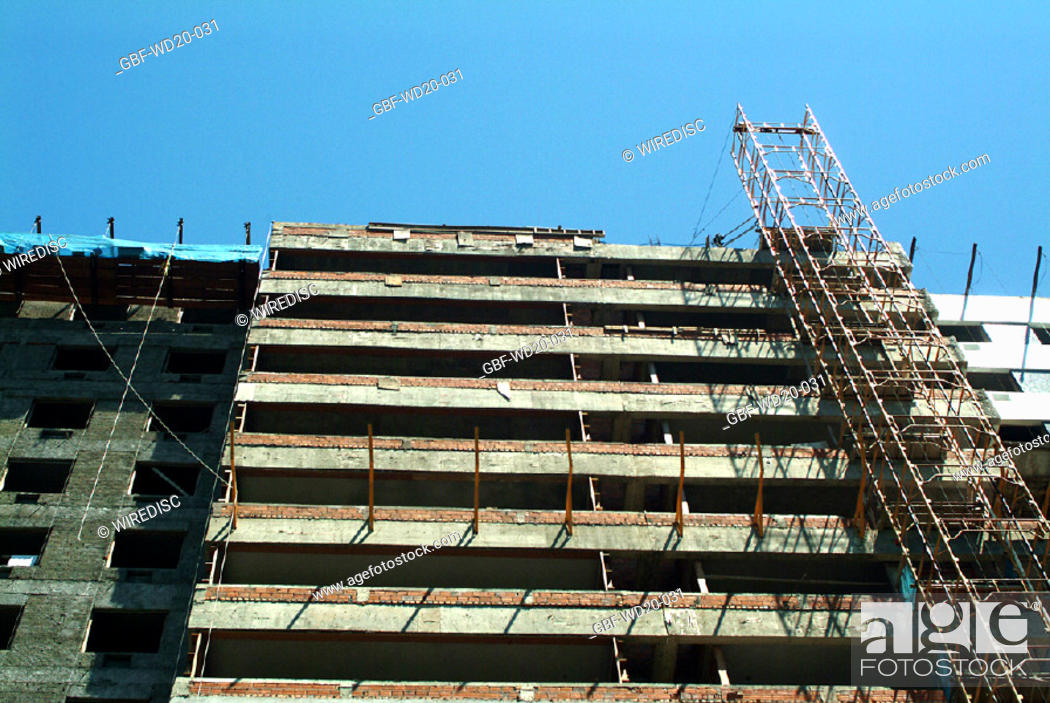 Stock Photo: Construction, building, architecture, Brazil.